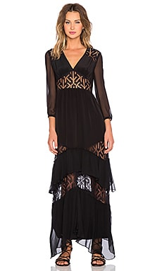Twelfth Street By Cynthia Vincent Lace Inset Dress in Black