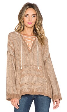 Twelfth Street By Cynthia Vincent Oversize Baja Hoodie in Camel