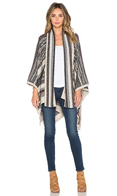 Twelfth Street By Cynthia Vincent Scarf Poncho in Red