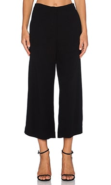 Twelfth Street By Cynthia Vincent Side Slit Crop Pant in Black