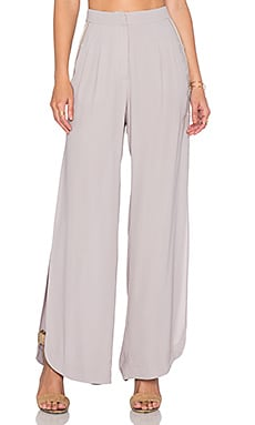 Twelfth Street By Cynthia Vincent High Slit Wide Leg Pant in Shark