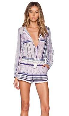 Twelfth Street By Cynthia Vincent Romper in Indigo Stripe