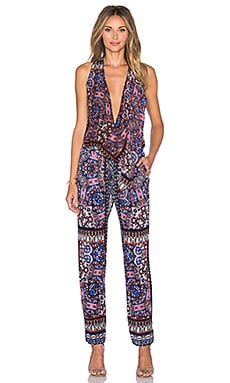 Twelfth Street By Cynthia Vincent Gypsy Jumpsuit in Kaleidoscope Scarf
