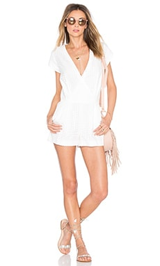 Twelfth Street By Cynthia Vincent Surplus Belted Romper in White