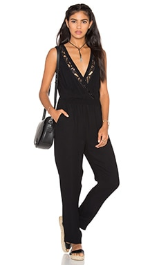 Crossover Jumpsuit in Ebony