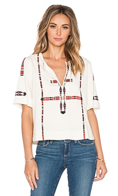 Twelfth Street By Cynthia Vincent Totem Pole Tee in Pearl