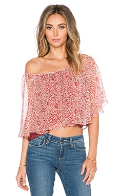 Twelfth Street By Cynthia Vincent Modern Peasant Top in Caveman