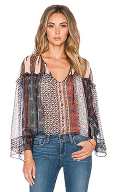 Twelfth Street By Cynthia Vincent Flair Blouse in Folklore Stripe