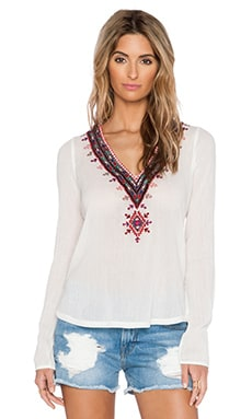 Twelfth Street By Cynthia Vincent Embroidered Top in Ivory
