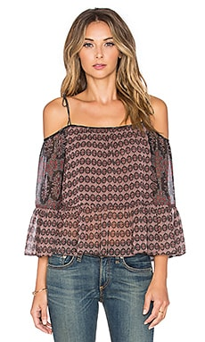 Twelfth Street By Cynthia Vincent Embroidered Trouse Top in Foulard
