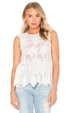 Ruffle Shell Top in Natural