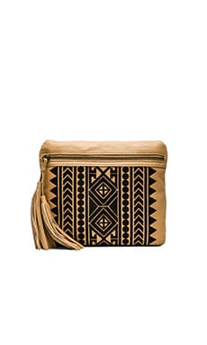 Twelfth Street By Cynthia Vincent Britt Clutch in Natural & Black