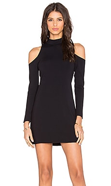 twenty Shoulder Cut Out Mini Dress in Black