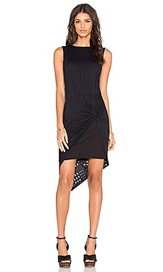 twenty Perforated Mini Dress in Black