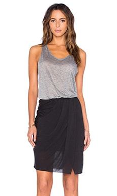 twenty Perfect Modal Colorblock Dress in Heather Grey & Black