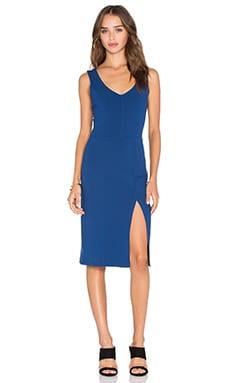 twenty Viscose Stretch Slit Dress in Bluemarine