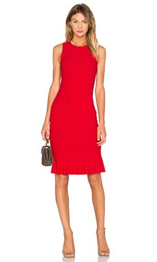 twenty Honeycomb Stretch Flare Dress in Poppy