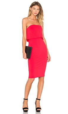 Viscose Stretch Strapless Dress in Poppy
