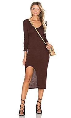 Autumn Rib Dress in Heather Auburn