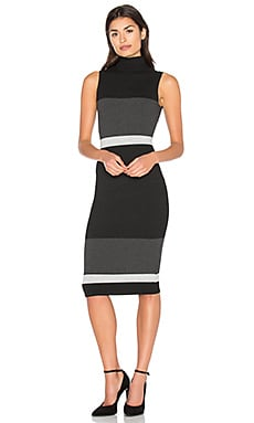Bold Block Dress in Black Combo