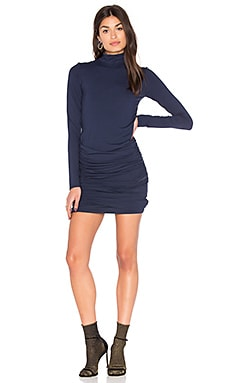 Turtleneck Bodycon Dress in Midnight