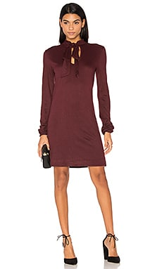 Rib Tie Neck Dress