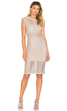Crafted Mesh Midi Dress