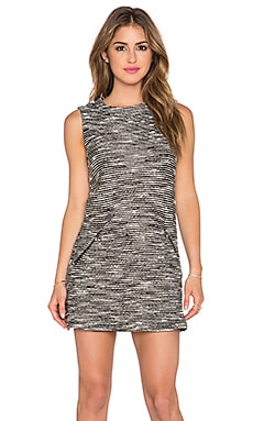 twenty Boucle Shift Dress in Black & White