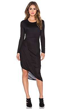twenty Asymmetric Dress in Black