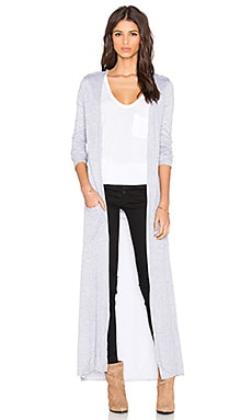 twenty Long Cardigan in Heather Grey
