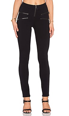 twenty Zipper Leggings in Black