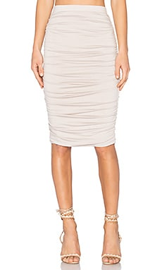Superior Midi Skirt in Taupe