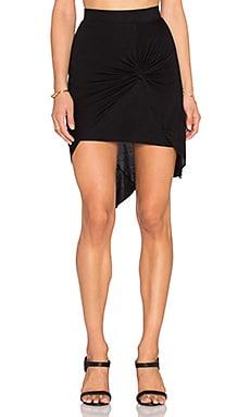 twenty Asymmetric Skirt in Black