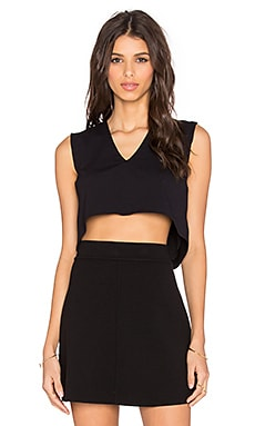 twenty Crop Top in Black