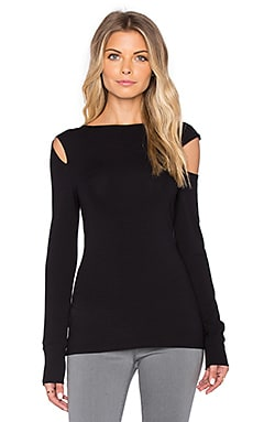 twenty Long Sleeve Top in Black