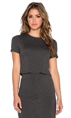 twenty Crop Top in Anthracite