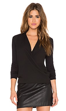twenty Wrap Blouse in Black