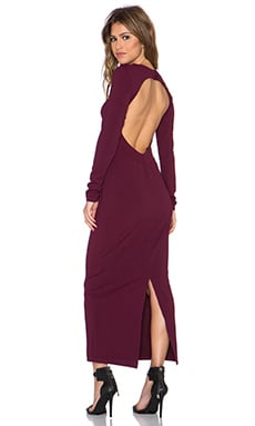 Twin Sister Longsleeve Midi Dress in Mauve