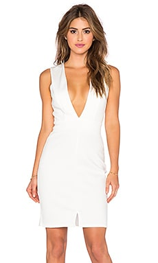 Plunge Dress in Cream