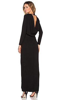 Twin Sister Longsleeve Maxi Dress in Black