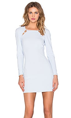 Cut Away Insert Mini Dress