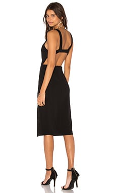Twin Sister Strappy Back Midi Dress in Black
