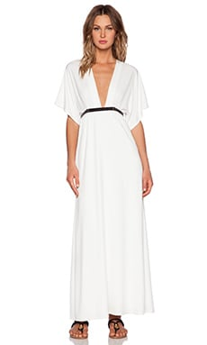 Twin Sister Belted Kimono Maxi Dress in Cream