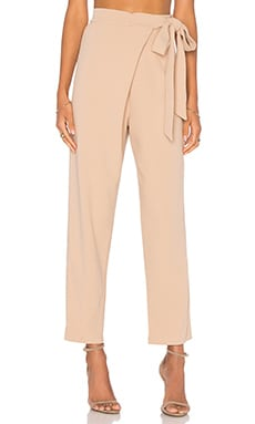 Tie Wrap Trouser in Sand