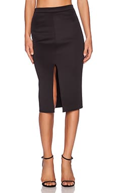 Twin Sister Bodycon Pencil Skirt in Black