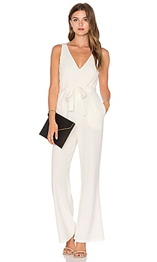 Tie Wrap Jumpsuit in White