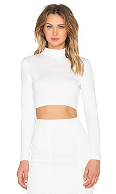 Cut Out Back Longsleeve Top in White