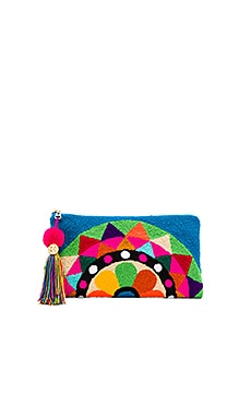 the way u Carousel Turquoise Clutch in Multi