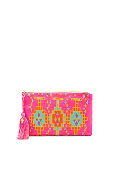 Marina Clutch in Pink Deco