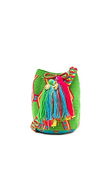 Mini Mochila Bucket Bag in Grasshopper